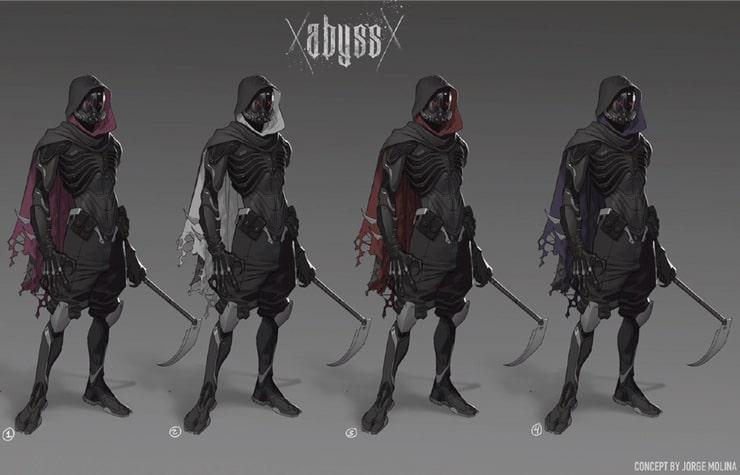 Abyss - szkic koncepcyjny